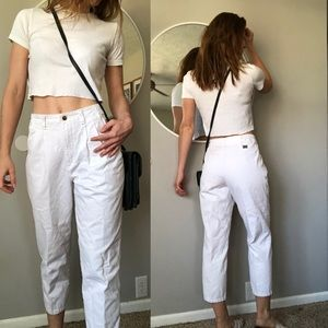 Vintage white Lee high waist taper pants